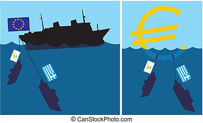 süllyedő, eurozone, -, ciprusi, gree