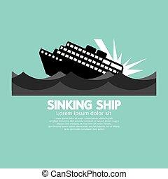süllyesztés hajó, black.