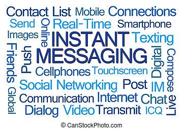 sürgős messaging, szó, felhő