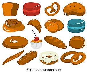 süti, állhatatos, pékség, products., friss kenyér
