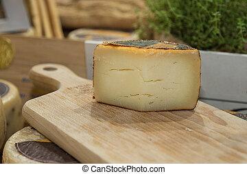 sýr, sekat prkna, dřevěný, krajíc, ostatní, sheep's