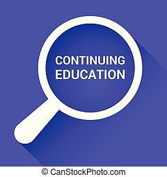 słówko, kontynuowanie, szkło, optyczny, nauka, wykształcenie, powiększający, concept: