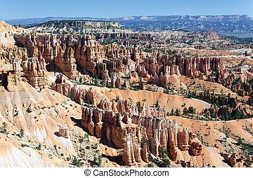 sławny, amfiteatr, od, bryce kanion