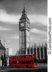 sławny, cielna ben, w, londyn, anglia