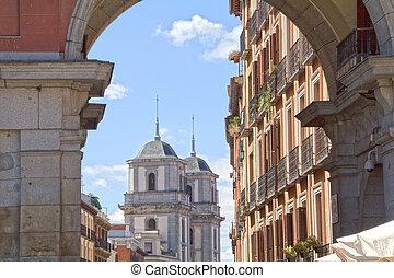 sławny, plaza burmistrzują, hiszpania, madryt