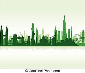 sławny, punkty orientacyjny, cityscape