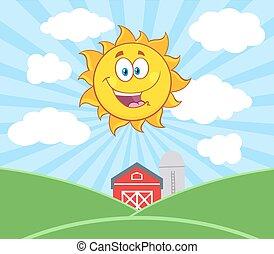 słońce, światło słoneczne, litera, szczęśliwy
