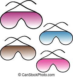 słońce, białe tło, okulary