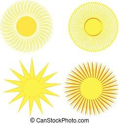 słońce, białe tło