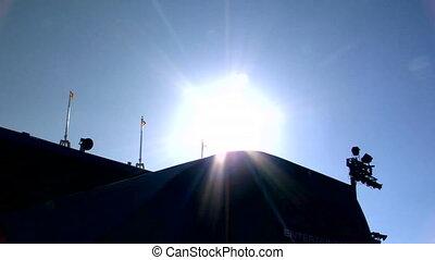 słońce, bmx, na, 360