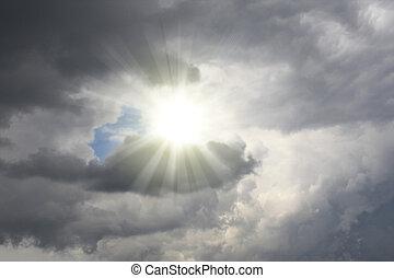 słońce, burza