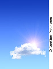 słońce, chmura