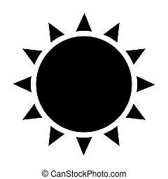 słońce, czarnoskóry, ikona