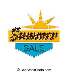 słońce, etykieta, sprzedaż, sumer