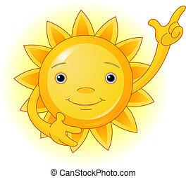 słońce, górny, kropka