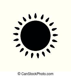 słońce, icon., czarnoskóry