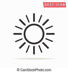 słońce, icon.