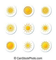 słońce, ikony