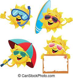 słońce, litery