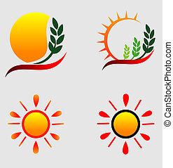 słońce, logos