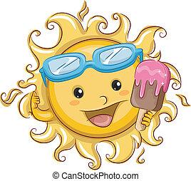 słońce, popsicle, dzierżawa