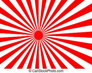 słońce, powstanie, japansese