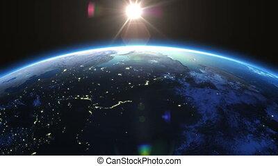 słońce, ruch obrotowy, stopnie, 360, ziemia