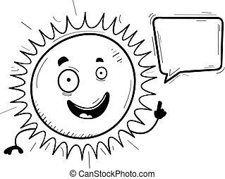 słońce, rysunek, mówiąc