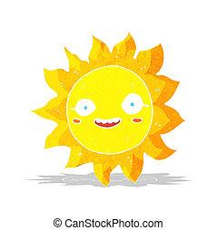 słońce, rysunek, szczęśliwy