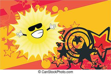 słońce, rysunek, tło