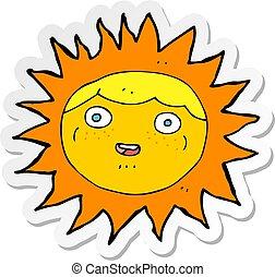 słońce, rzeźnik, litera, rysunek