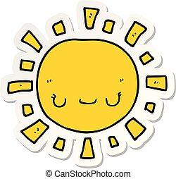 słońce, rzeźnik, rysunek