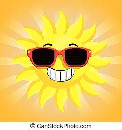 słońce, sunglasses, litera