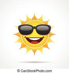 słońce, sunglasses