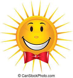 słońce, szczęśliwy