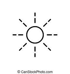 słońce, szkic, ikona