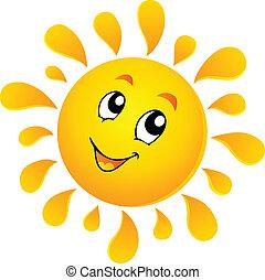 słońce, temat, wizerunek, 3