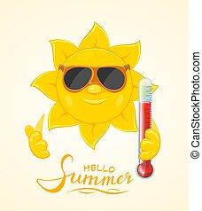 słońce, termometr