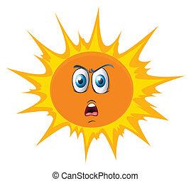 słońce twarz