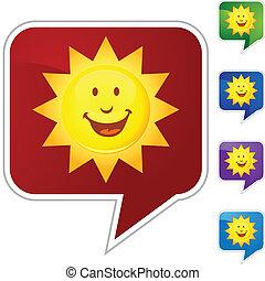 słońce, uśmiechanie się