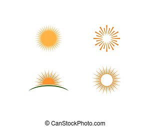słońce, wektor, logo