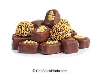 słodki, cukierek, czekolada