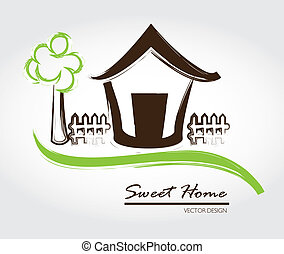 słodki, dom