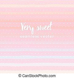 słodki, pasiasty, i, wielokropek polki, seamless, próbka, wektor