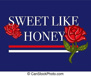 słodki, podobny, miód