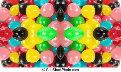słodycze, mucha-wskroś, makro, abstrakcyjny, długość ...