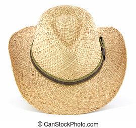 słoma, kapelusz kowboja