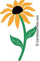 słonecznik, odizolowany
