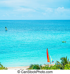 słoneczny dzień, piękny, ocean