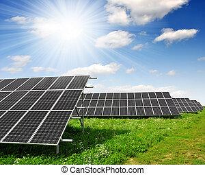 słoneczny, poduszeczki, energia